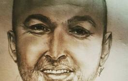 عام على رسمي من قبل الرسامه الرائعه الهام المغيث زوجة الاسير في سجون الاحتلال محمد نزال