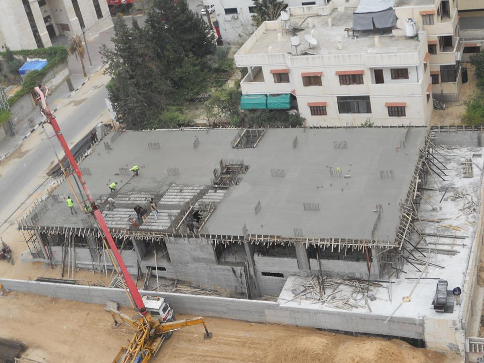 مبروك اليوم تم صبة سقف مظلة برج الظافر 4 ارضية الطابق الاول