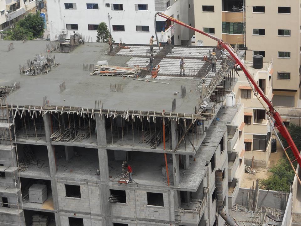 مبروك ياسكان برج الظافر 4 تم صب الطابق الخامس بلاطة الطابق السادس