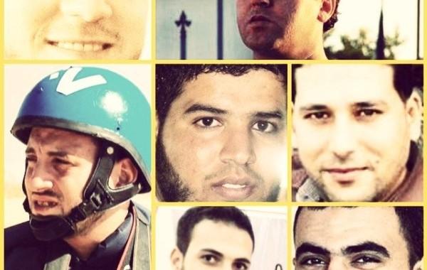 سيبقى شعار الصحافيين الفلسطينيين بالدم نكتب لفلسطين في اليوم العالمي للتضامن مع الصحافيين