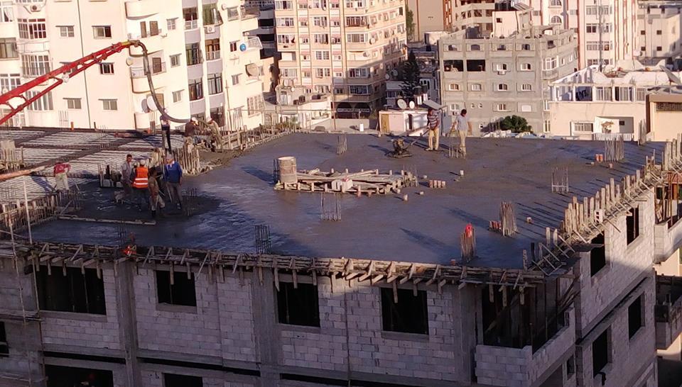 مبروك صب الطابق التاسع بلاطة العاشر في برج الظافر 4 هانت ماتبقى الا القليل القليل