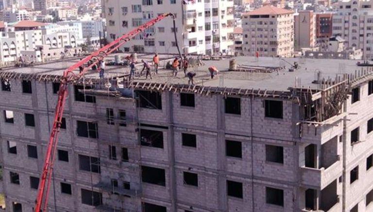 اليوم تم صب اعمدة الروف الطابق 11 في برج الظافر 4