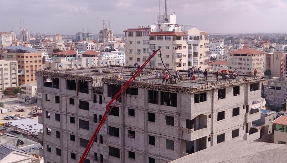 مبروك لسكان برج الظافر 4 صب الطابق ال 11 الروف اخر اعمال الباطون