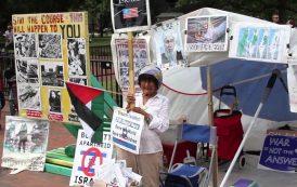 عامان مضت على رحيل السيدة كونسيبسيون توماس المتضامنة مع شعبا الفلسطيني 35 امام البيت الأبيض الامريكي